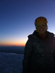 Shannon Wilkinson on the summit of Mt. Hood