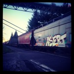 The train that interrupted my run.