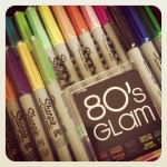Shannon Wilkinson's new 80's Glam Sharpie collection