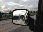 St. Johns Bridge in my car mirror, by Shannon Wilkinson Portland, Oregon