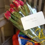 """Happy May Day! Shannon!"" - Surprise gifts on my doorstep."