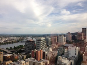 View of Portland from the 30th floor of the US Bank Tower.