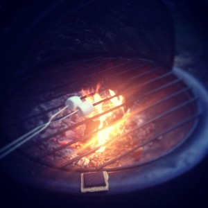 Fire, sweets and friends. Good times.